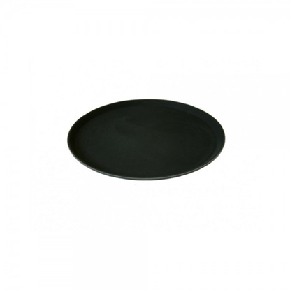 Hugh Jordan Black Round Non-Slip Tread Tray