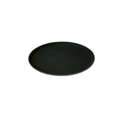 Hugh Jordan Black Round Non-Slip Tread Tray
