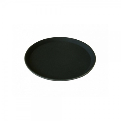 "Picture of Round Black Non Slip Tray 16"" (40.6cm)"
