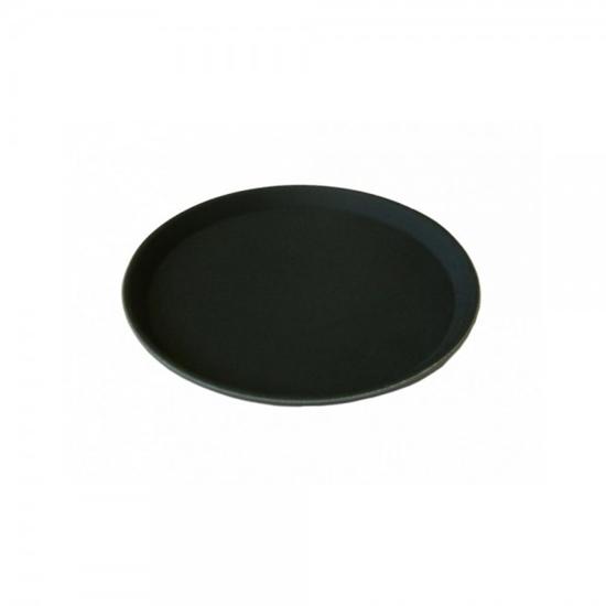 """Picture of Round Black Non Slip Tray 16"""" (40.6cm)"""