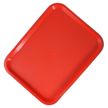 """Picture of Red Fast Food Tray 14x10"""" (35.6x25.4cm)"""