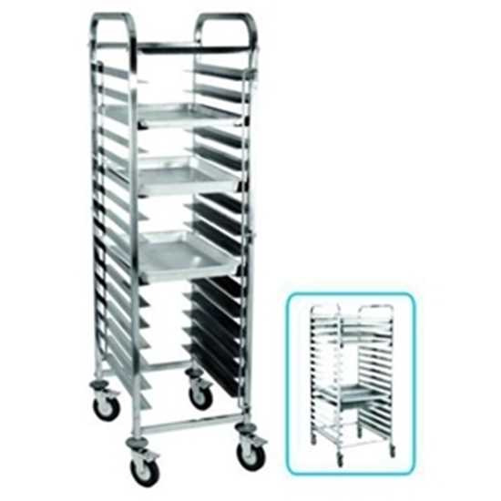 Picture of Stainless Steel Rail Trolley For 1/1 Pans