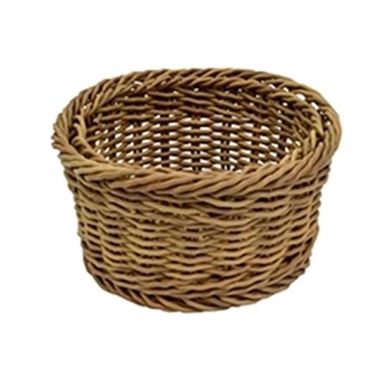 "Picture of Polywicker Round Basket 7.1x3.7"" (18x9.5cm)"