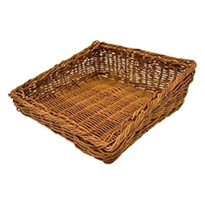 "Picture of Polywicker Angled Basket 13.3x13x2.2"" (33.7x33.1x5.5cm)"