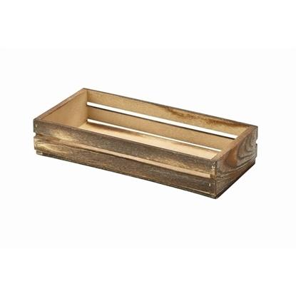Dark Rustic Wooden Crate 25x12x5cm