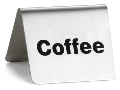 "Picture of Stainless Steel Coffee Sign 2.4x2x2"" (6x5x5cm)"