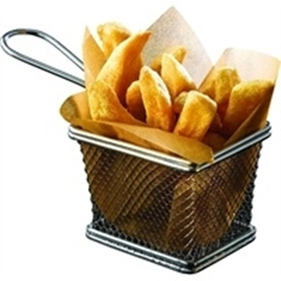 """Picture of Stainless Steel Serving Basket 3.9x3.1x3"""" (10x8x7.5cm)"""