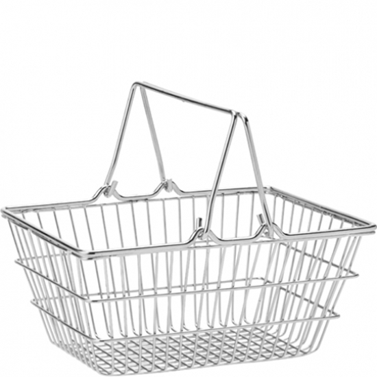 """Picture of Stainless Steel Shopping Basket 7.1x5.1"""" (18x13cm)"""