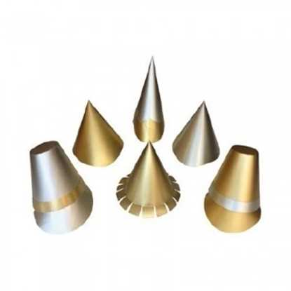 Picture of Large Silver and Gold Party Hats