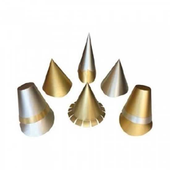 gold and silver Christmas party hats