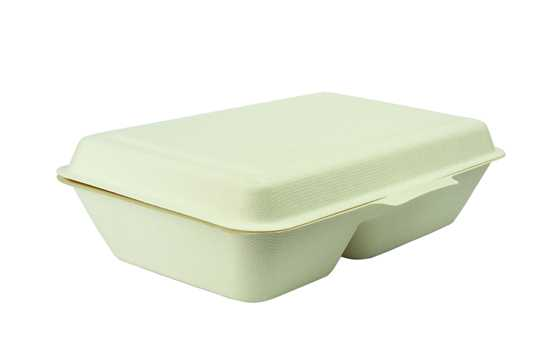 Picture of Compostable Two Compartment Clamshell Box