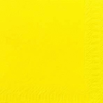 "Picture of Yellow Napkin 2 Ply 13"" (33cm)"