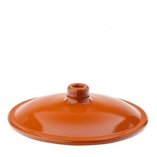 "Picture of Terracotta Lugged Casserole Lid 16cm (7"")"