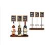 "Picture of Three Wine Bottle Chalk Board Display 17.7x15.2"" (45x38.5cm)"