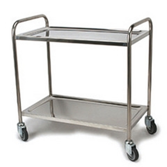 """Picture of Stainless Steel Kelvin 2 Tier Trolley 35.4x20.1x35.4"""" (90x51x90cm)"""