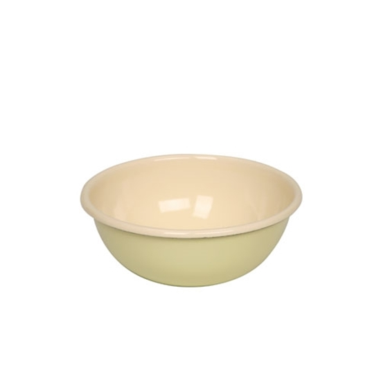 Picture of Yellow and Cream Enamel Bowl 78.1cl (26.4oz)