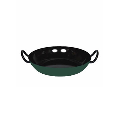 """Picture of Green and Black Enamel Gourmet Dish 10.2"""" (26cm)"""