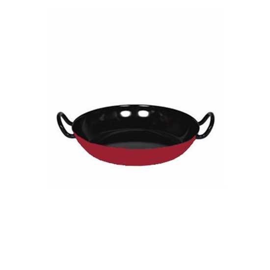 """Picture of Red and Black Enamel Gourmet Paella Dish 11.75"""" (30cm)"""