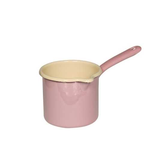 Picture of Pink and Cream Enamel Jug with Handle