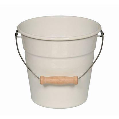 "Picture of White Mini Enamel Bucket 6.25"" (16cm)"