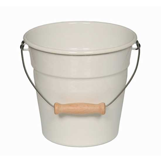 Picture of White Mini Enamel Bucket