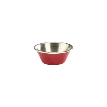 Picture of Stainless Steel Red Ramekin 4.3cl (1.5oz)