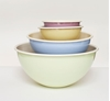 Picture of Pink and Cream Enamel Bowl 47cl (15.9oz)
