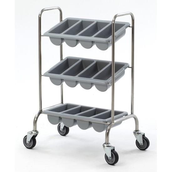 """Picture of Cutlery Trolley With Boxes 24x15.9x37.8"""" (61x40.5x96cm)"""