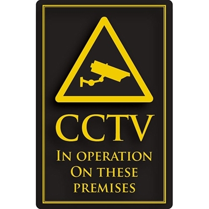 """Picture of Gold/Black CCTV Sign 11.8x15.7"""" (30x40cm)"""