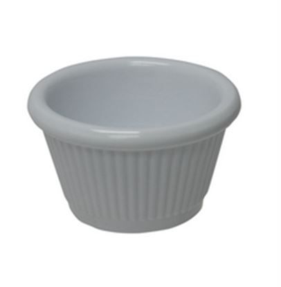 Picture of 12cl (4oz) White Melamine Fluted Ramekin
