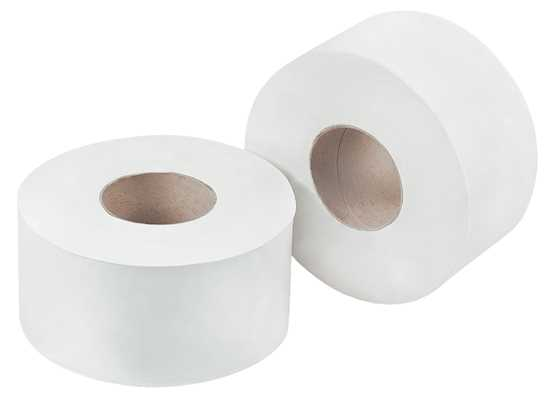 Picture of Jumbo White 1 Ply Toilet Roll