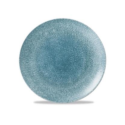 "Picture of Churchill Raku Topaz Blue Coupe Plate 8"" (21.7cm)"