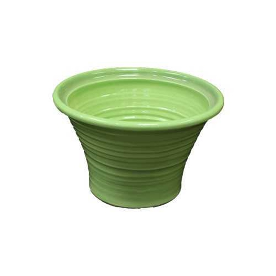 """Picture of Reactive Lime Green Salad Bowl 10x6.7"""" (25.5x17cm)"""