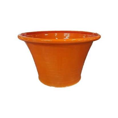 "Picture of Reactive Orange Salad Bowl 10x6.7"" (25.5x17cm)"