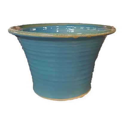 """Picture of Reactive Blue Water Salad Bowl 10x6.7"""" (25.5x17cm)"""