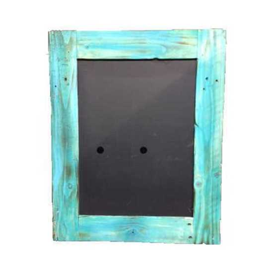 Picture of Blackboard With Turquoise Frame