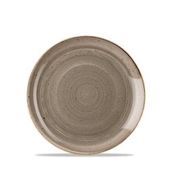"Stonecast Grey Evolve Plate 6.5"""
