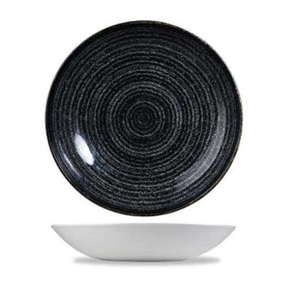 Studio Prints Charcoal Black Coupe Bowl