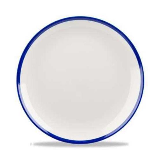 Retro Blue Coupe Plate 16.5cm