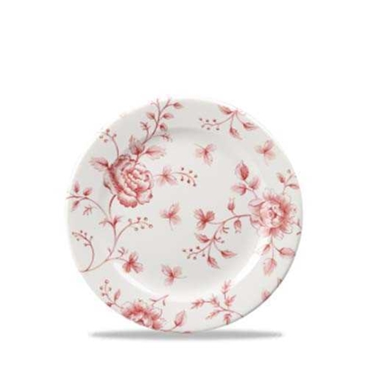 Vintage Prints Rose Chintz Cranberry Plate 16cm