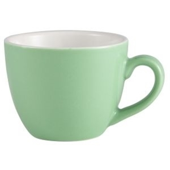 Green Bowl Shaped Cup 9cl
