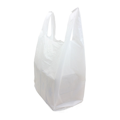 Picture of White Plastic Carrier Bag