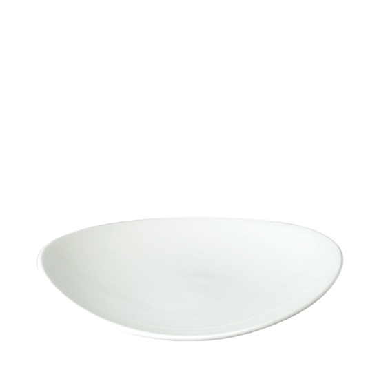 Orbit Oval Coupe Plate White