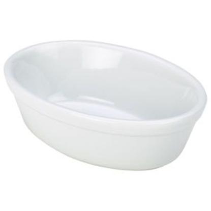 Royal Genware Oval Pie Dish 14cm White