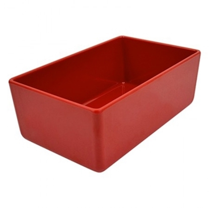Picture of Red Melamine Chunky Crock 3.2L