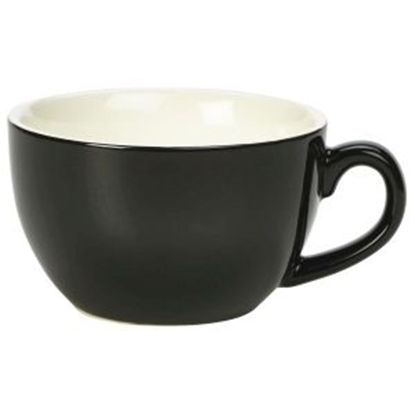 Royal Genware Bowl Shaped Cup 25cl Black