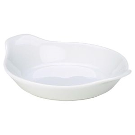 Royal Genware Round Eared Dish 13cm White