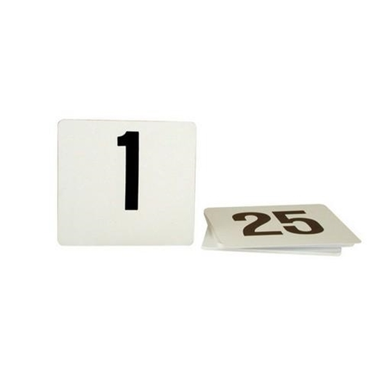 Picture of Black On White Table Numbers 1-25