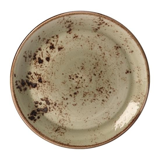25.5cm Green Craft Round Coupe Plate