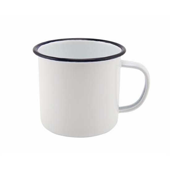 36cl White Enamel Mug